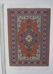 MEDIUM Dolls house Turkish RUG/ CARPET [6d] 12th scale