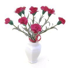 RED CARNATIONS flower kit 12th Scale
