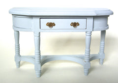 Large painted shabby chic pale blue HALL TABLE  for DOLLS HOUSE1:12