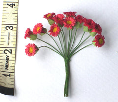 DIY Red DAISIES bunch of flowers