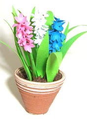 Miniature Flower Kit HYACINTHS dolls house plant flower 12th Scale