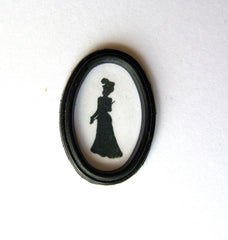 Silhouette in Black frame 'Victorian/Edwardian lady'