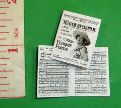 Dolls House SHEET MUSIC 'Ma Look at Charlie' 1:12