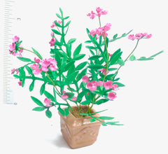 Flower kit OLEANDER Bush Deep Pink miniature flower 12th scale