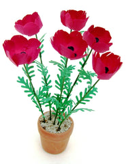 Flower Kit GIANT POPPIES -  Red -12th scale