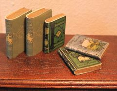 5 Dollhouse TRAVEL books handmade
