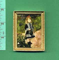 Renoir Portrait PICTURE 'girl with watering can' dolls house picture SALE