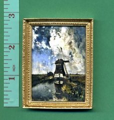 LANDSCAPE PICTURE 'WINDMILL and CLOUDS'