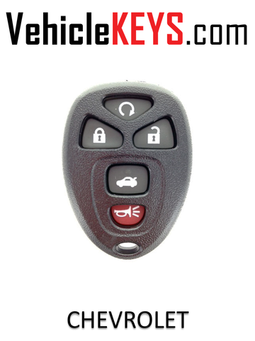 CHEVY REMOTE SHELL 5 Button