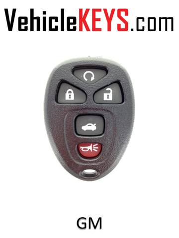 GM REMOTE SHELL 5 Button