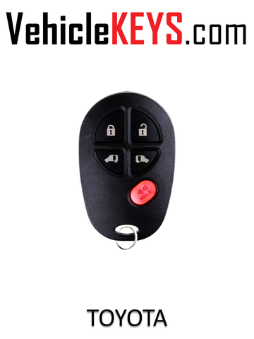 TOYOTA REMOTE SHELL 5 Button