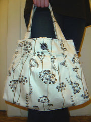 Button Pleat Bag