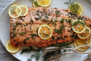 King Salmon Roasted in Butter