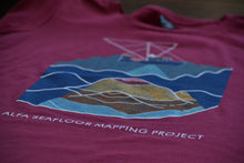 Women's Seafloor Mapping T Shirt: Rainbow Design