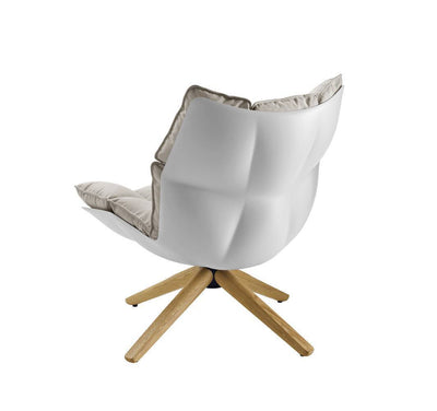 Husk Chair Low Back - Wood Base