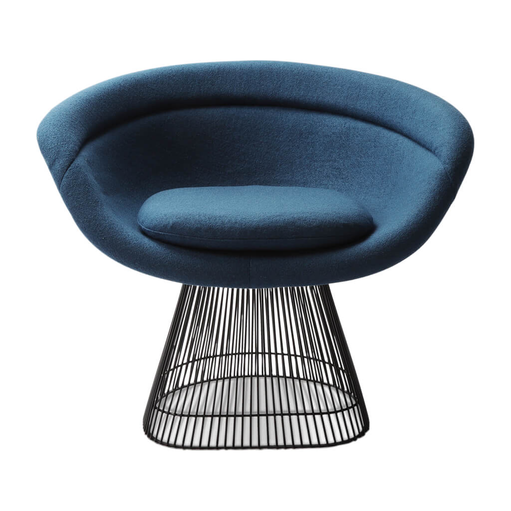 Warren Platner Lounge Chair - Gun Metal Black Base