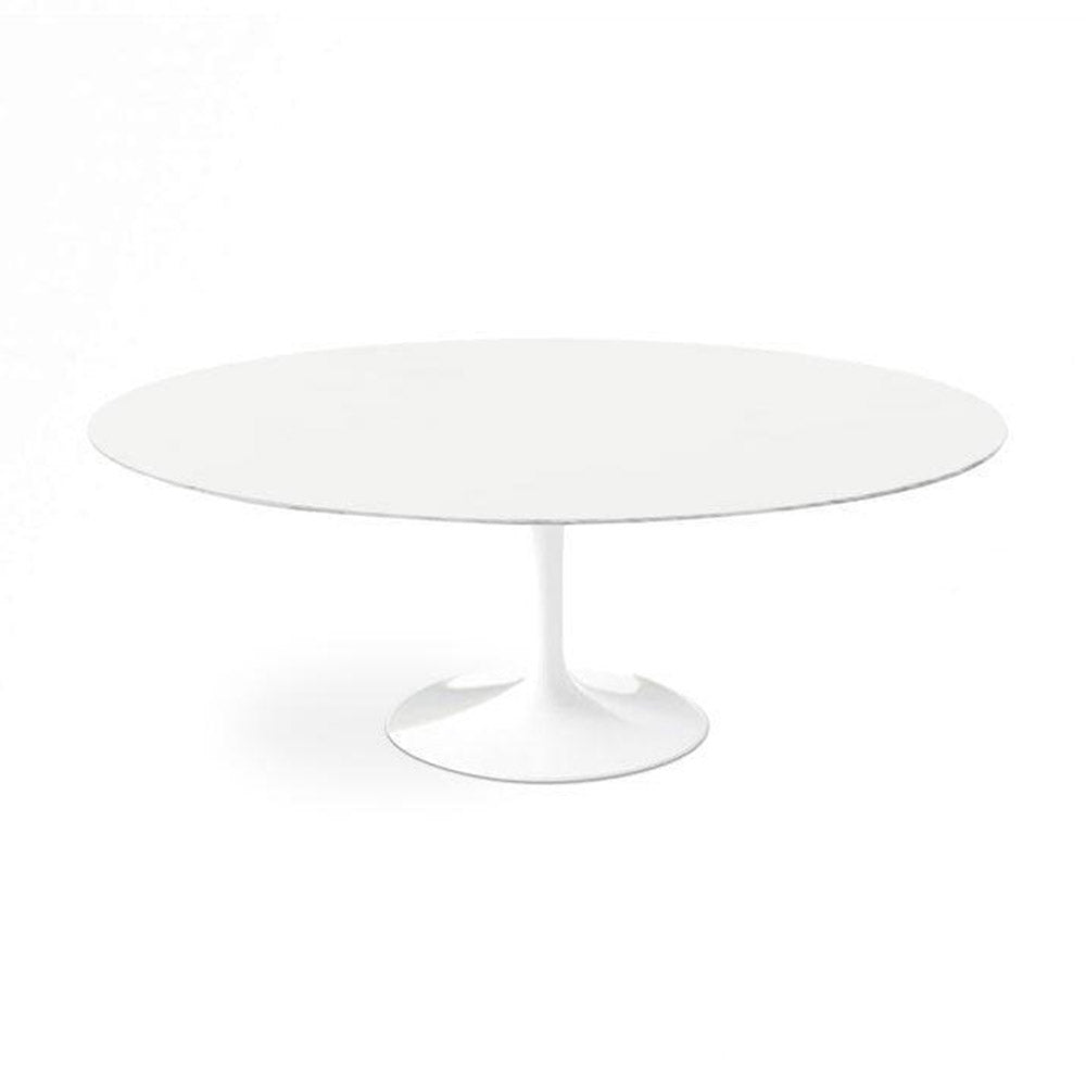 White Lacquer Tulip Dining Table - Oval