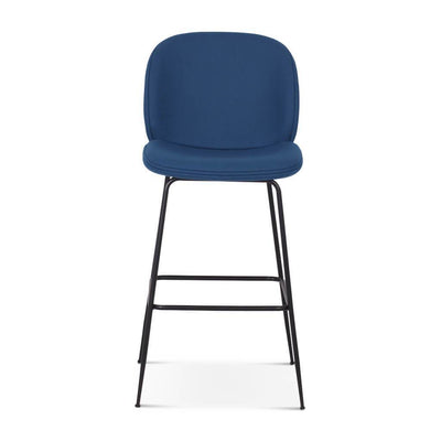 Beetle Counter Stool - Black Powder-Coated Legs