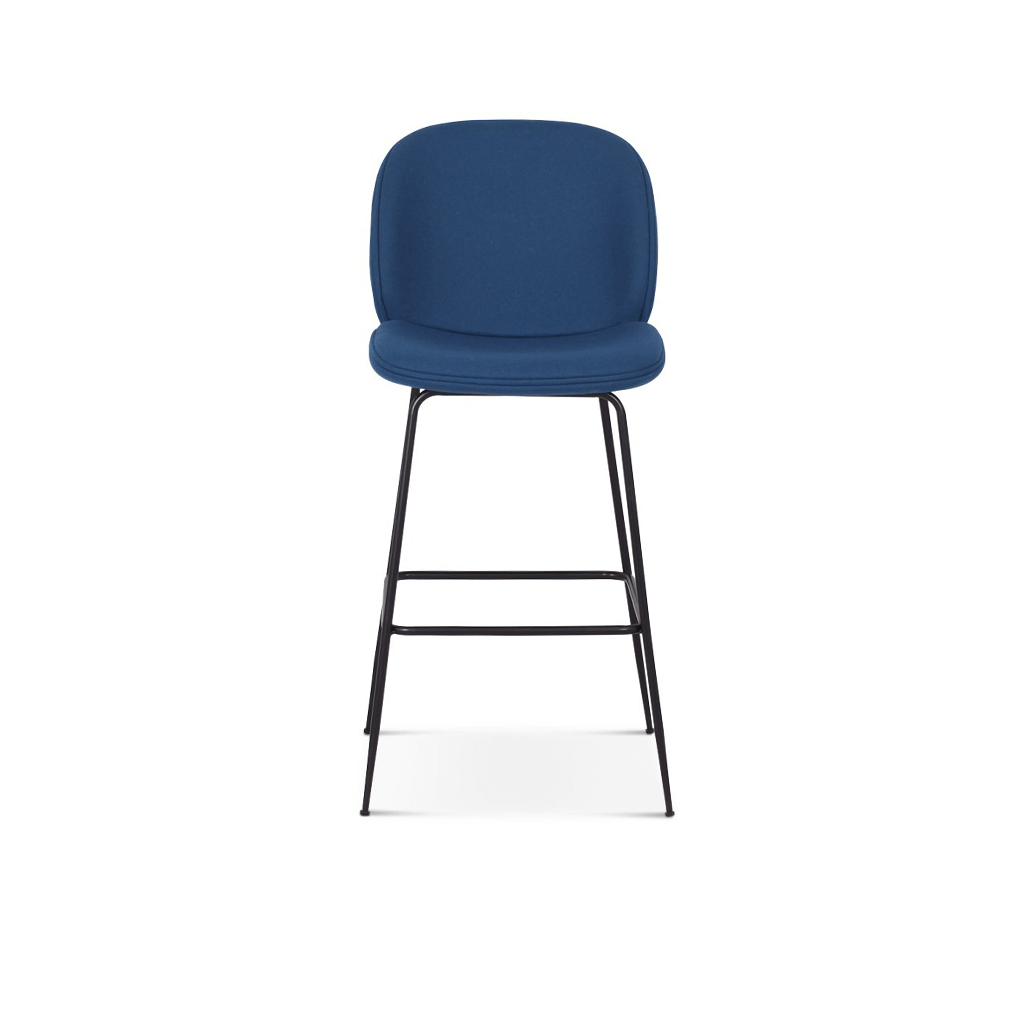 Beetle Counter Stool - Leather Upholstered