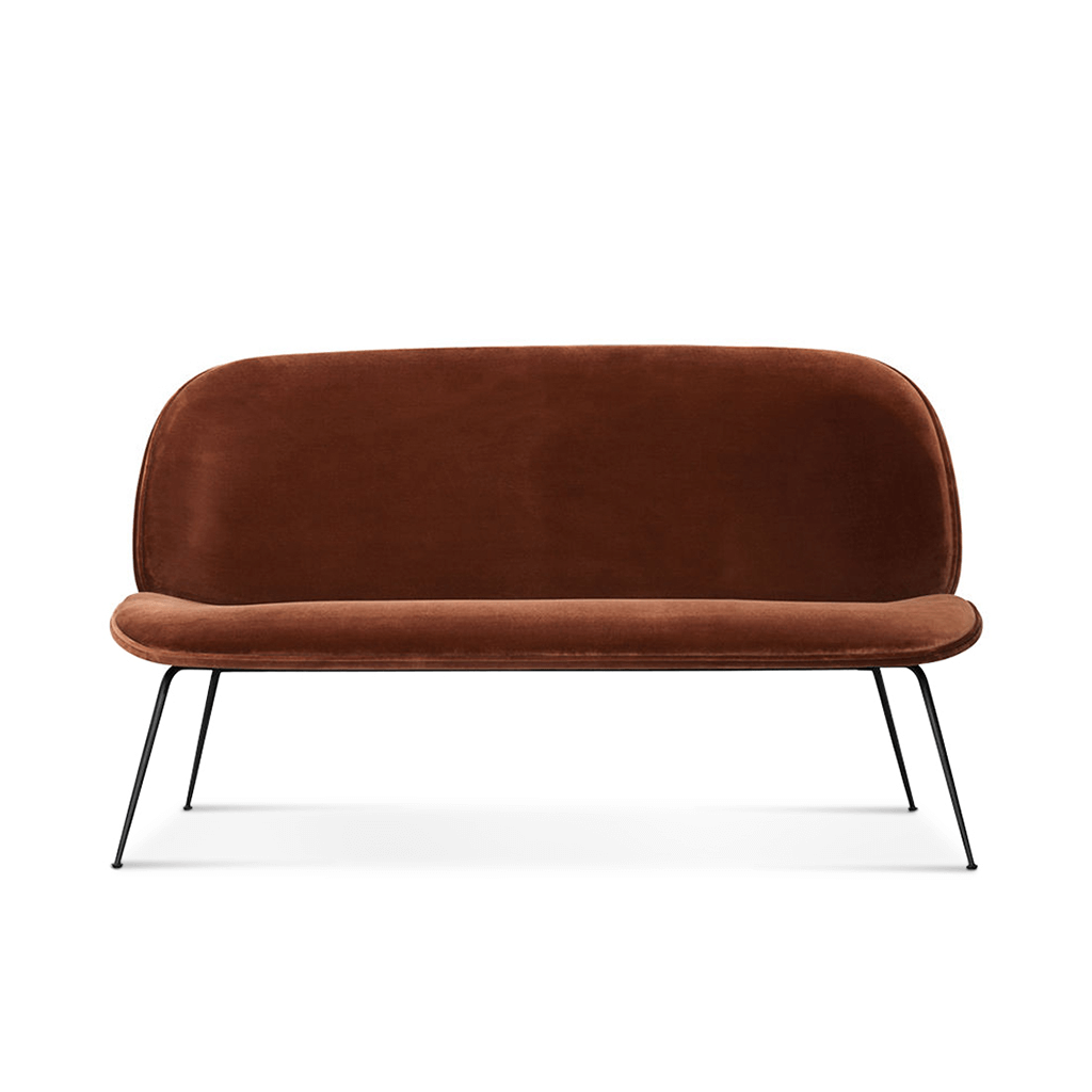 Beetle Sofa Two-Seat - Gun Metal Black Legs