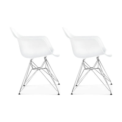 Set of Two DAR Molded Plastic Armchair