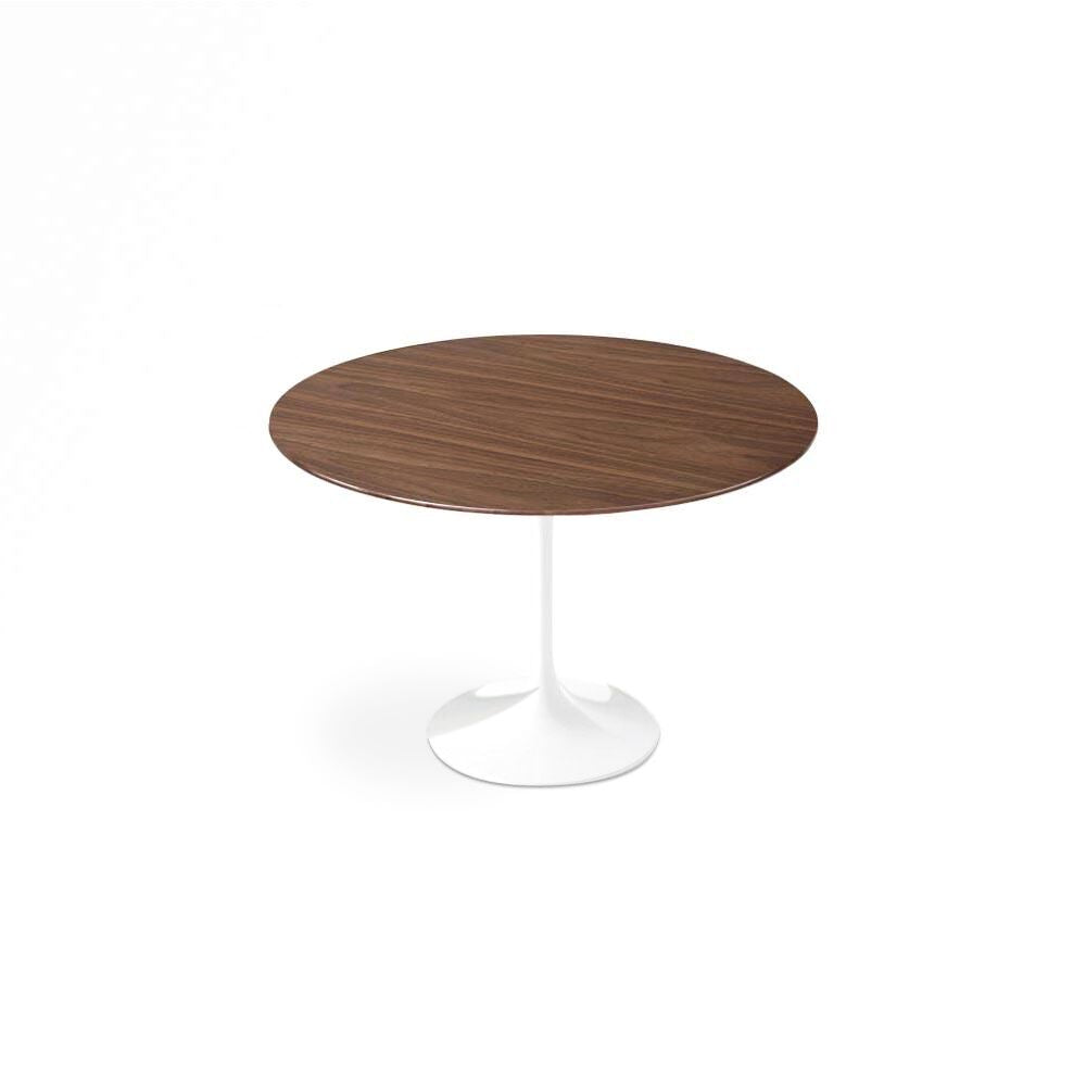 Dark Walnut Wood Tulip Dining Table - Round
