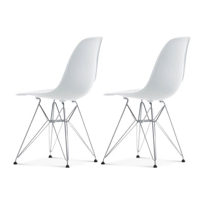 Set of Two DSR Molded Plastic Side Chair