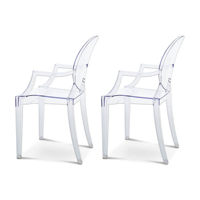 Set of Two Ghost Armchair Louis