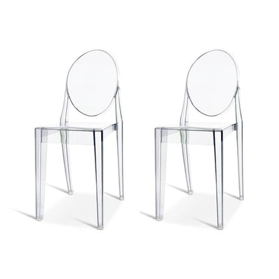 Set of Two Ghost Side Chair Victoria
