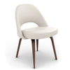 Saarinen Executive Leather Side Chair - Wood Legs