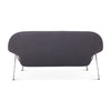 Womb Loveseat - Black Powder-Coated Steel Legs