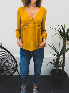 Blouse Daline moutarde