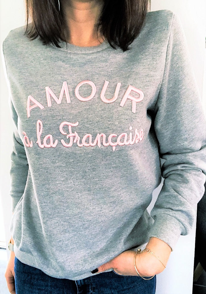 Sweat Amour gris