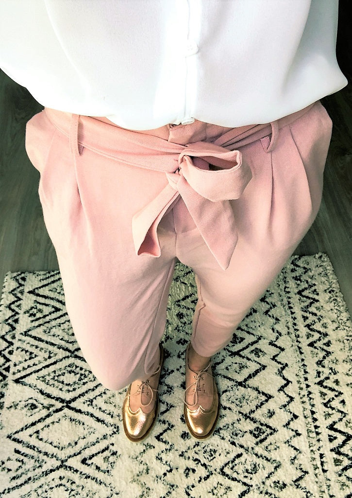 Pantalon Albertine rose
