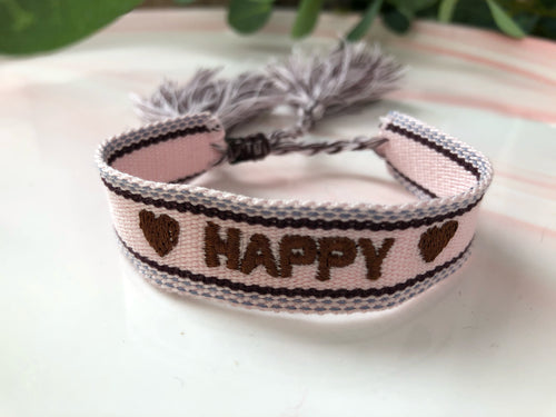 Bracelet tissé Happy