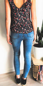 Jean Barbara denim délavé