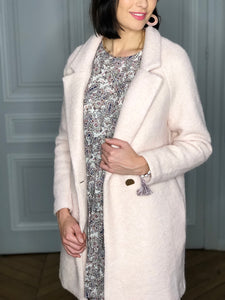 Manteau Clothilde rose pâle