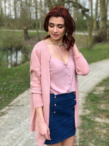 Cardigan Laurette rose