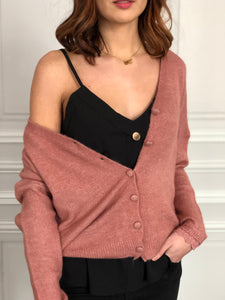 Pull gilet Harry vieux rose