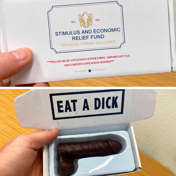 Stimulus Check Chocolate Dick