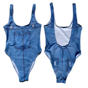 Ladies (fake) Denim One-Piece