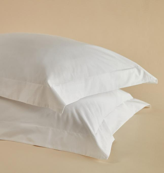 The Crisp & Cool Organic luxury Oxford pillow cases dash-riseandfall
