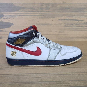Nike Air Jordan 1 Retro Mid Olympic 136085-161 Pre-Owned Sneakers