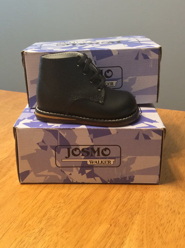 Josmo Leather Walking Shoe Black Waffle