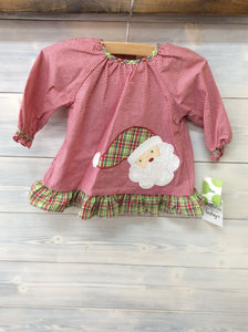 Petit Ami Santa Claus Dress with Bloomers