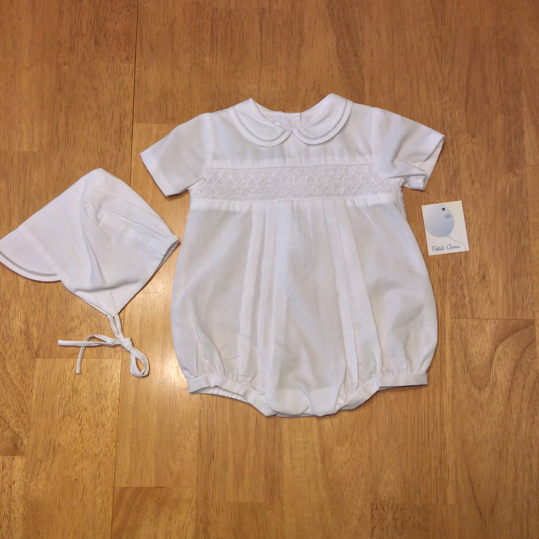 Petit Ami White Playsuit