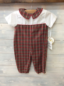 Petit Ami Plaid Collar Longall
