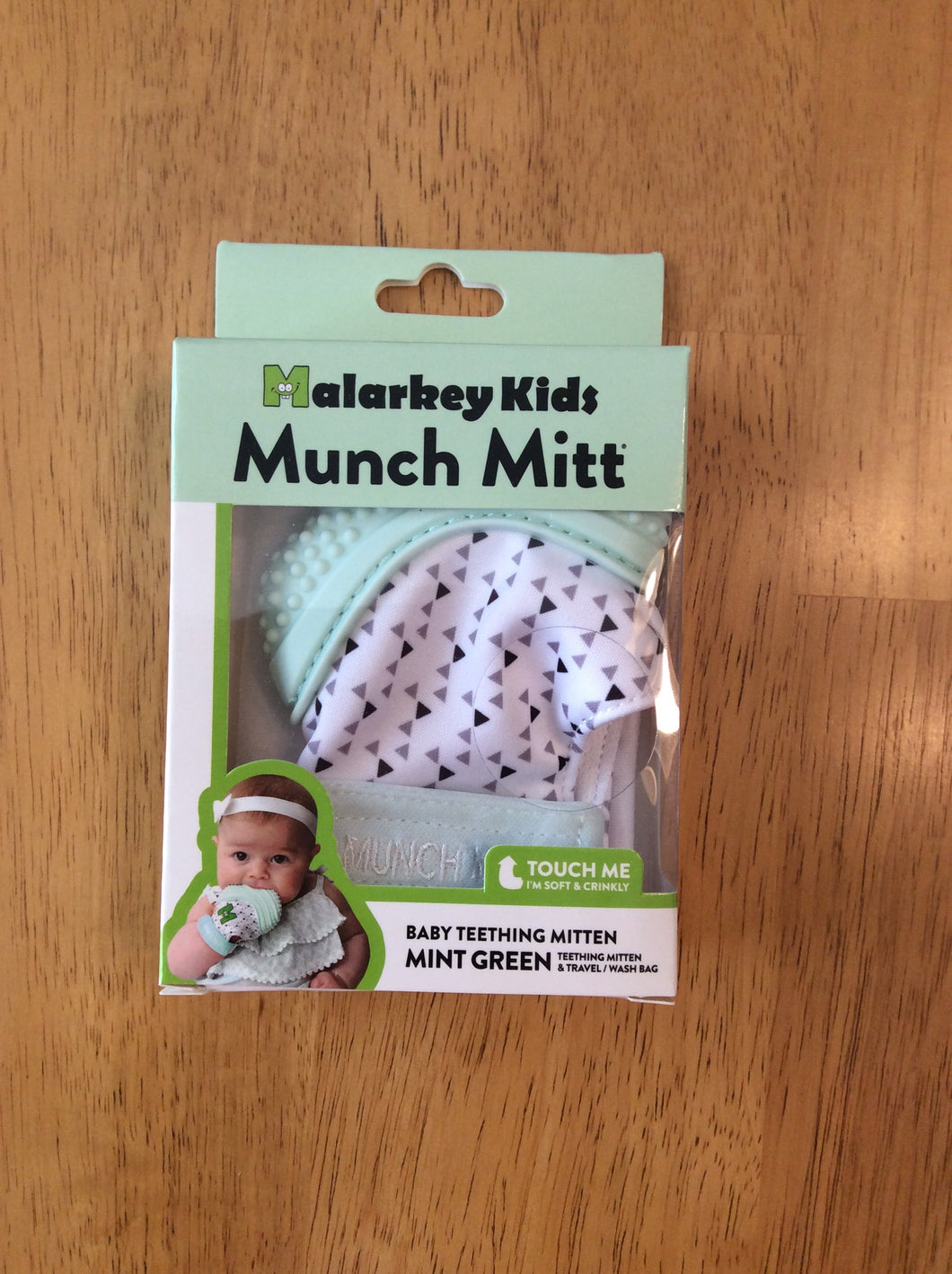 Munch Mitt Mint Green Triangles