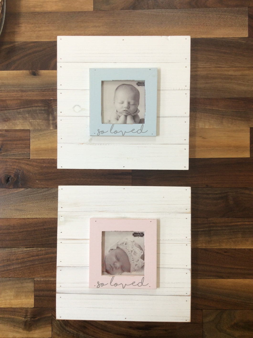 Mudpie Pink and Blue So Loved Frames
