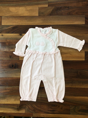 Kissy Kissy Pink Elephant Collar Playsuit with Ruffles